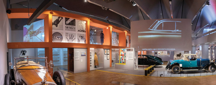 Vehicle models spanning centuries on show at the V&A. Image credit: Victoria and Albert Museum, London.