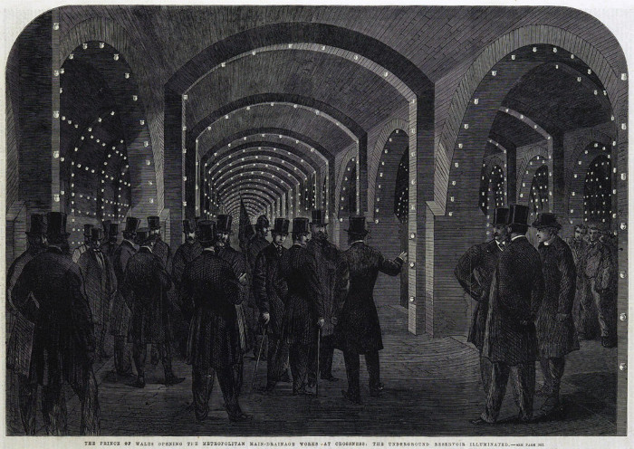 The opening of Crossness Pumping Station in 1865, as depicted in the Illustrated London News