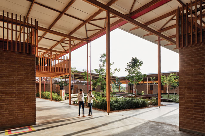 The RIBA Award-winning Children's Village residential school project in rural Brazil. Image Credit: Cristóbal Palma