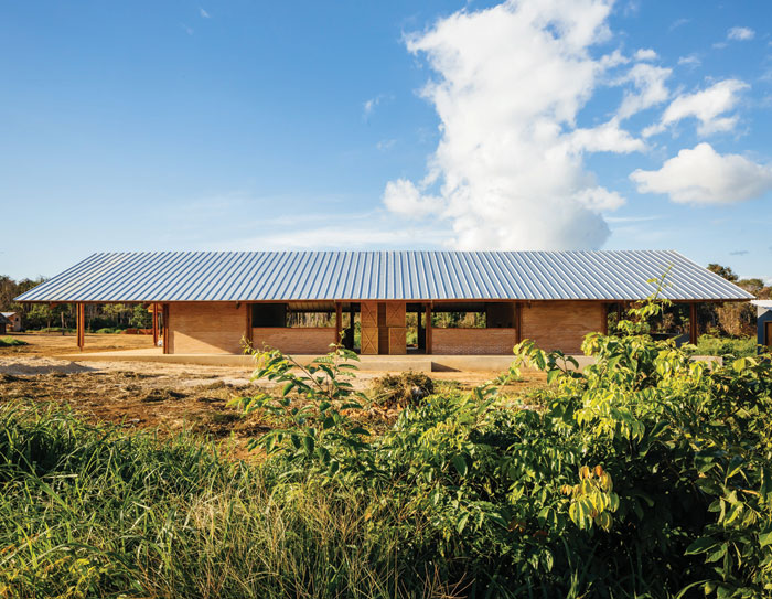 The Xingu Canopies, a multipurpose space for the Xingu Indigenous Park in the Amazon. Image Credit: Pedro Kok