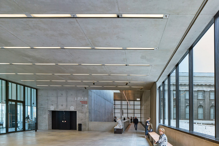 Natural light fills the upper entrance foyer