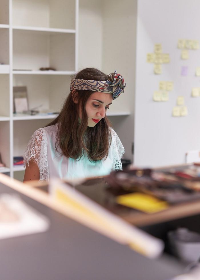 Minkovska in the Design Museum's residency studio. Image credit: Felix Speller for the Design Museum.