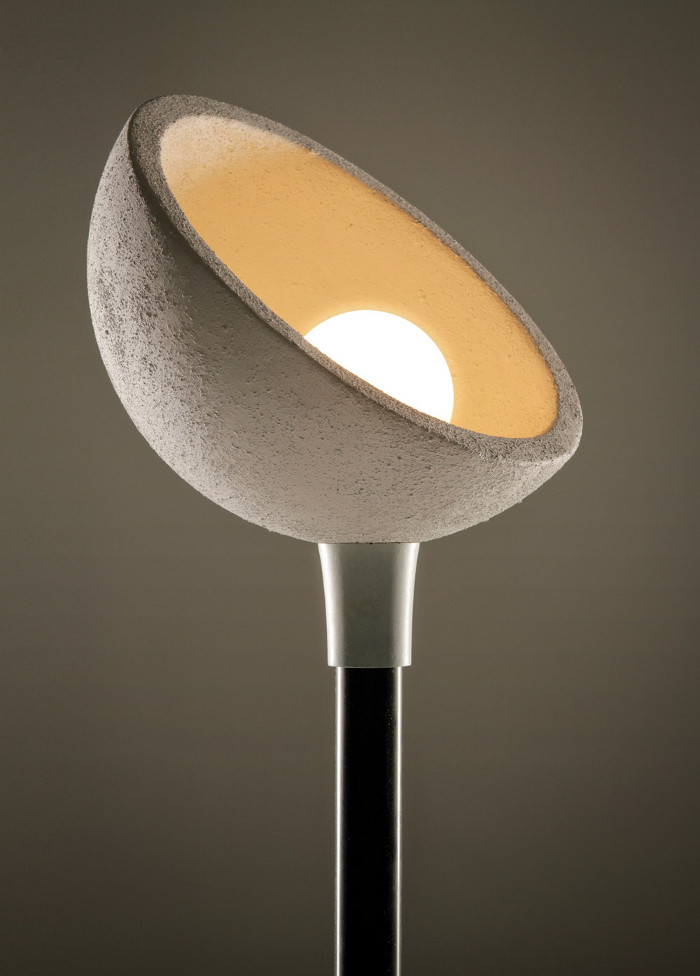 A lamp made using compressed coffee grounds, from Atticus Durnell's That's Caffeine project