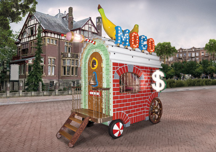 Studio Job's upcoming ticket office installation for Amsterdam's Moco Museum