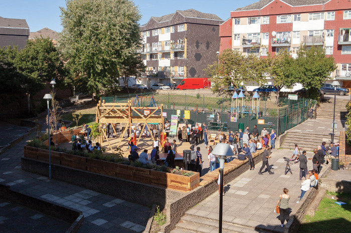 An intergenerational space: The Shade project has transformed an empty plot on the Aldriche Way estate