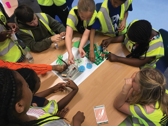 Co-design workshops for the Build Up Hackney project with local schoolchildren