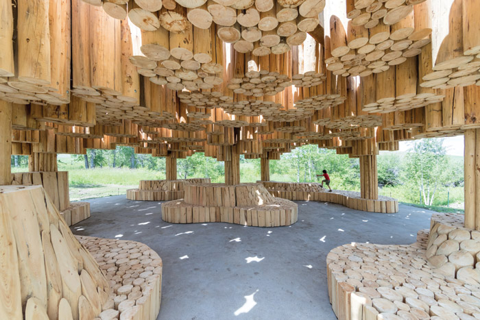 A magical, climbable forest: Xylem harnesses pine trunks to spectacular effect.