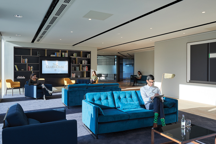 With interiors designed by Fletcher Priest, The Clubhouse at Angel Court, in the City of London offers spaces in between being totally design-led and corporate