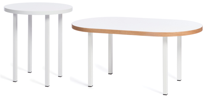 Tables and seating from the Loops range, designed by Anna Hart for MARK Product