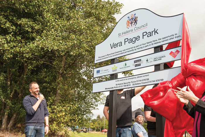 Vera Page Park, the result of the competition Your Name Here, is unveiled