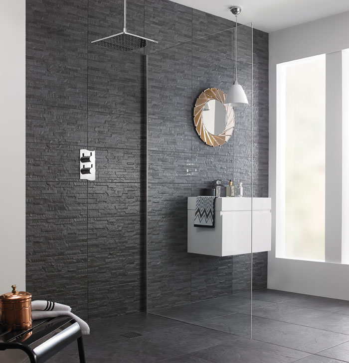 Textured tile Slate RT has the look of slate but as a ceramic tile