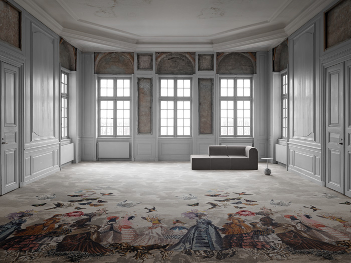 Carpet designs from the new Atelier collection, by Monsieur Christian Lacroix for Danish company ege and launched at Clerkenwell Design Week