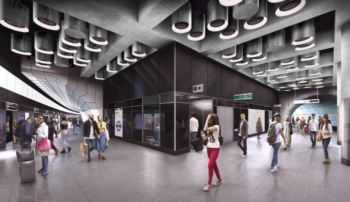 Tottenham Court Road's new Dean Street station.
