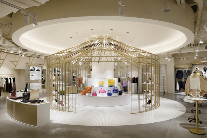 Iseta' The Japan Store's latest opening in Kuala Lumpur, designed by Tokyo firm Glamorous, combines elements of traditional Japanese design such as flags and bamboo with a flexible, contemporary design to create a store with wow factor