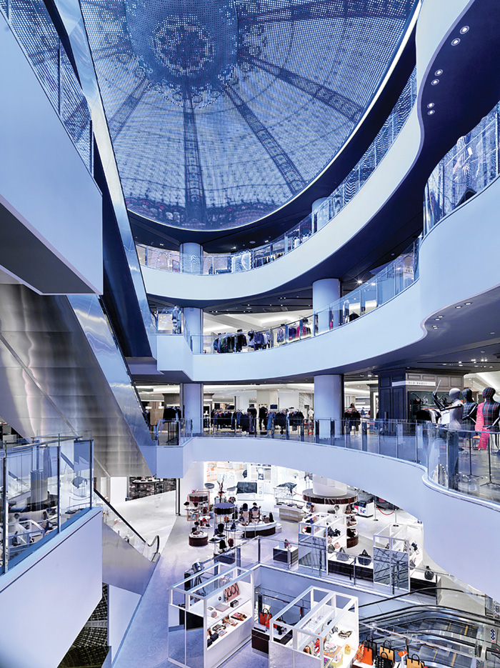 Galeries Lafayette's latest store in Beijing, designed by HMKM, has six floors of high end goods and has an area dedicated to local, mainly young designers