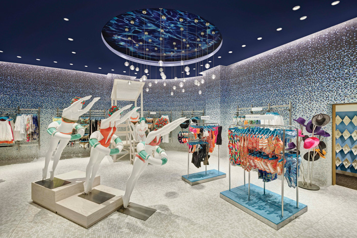 Gensler's design for El Palacio de Hierro in Querétaro, Mexico, is fun and youthful, and has the versatility to display products in a more lifestyle-oriented way