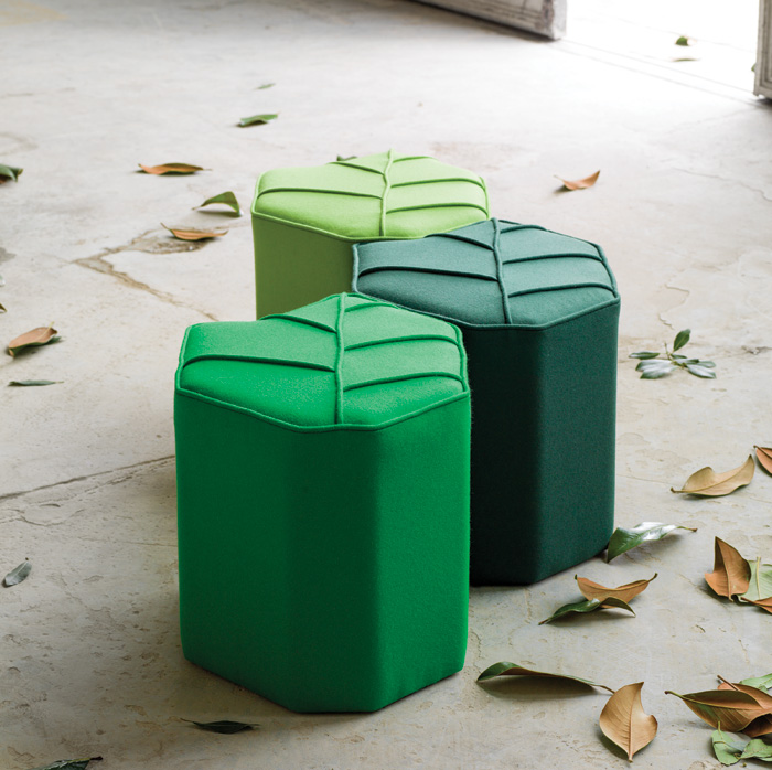Leaf Seats, designed by Nicolette de Waart for Design by nico