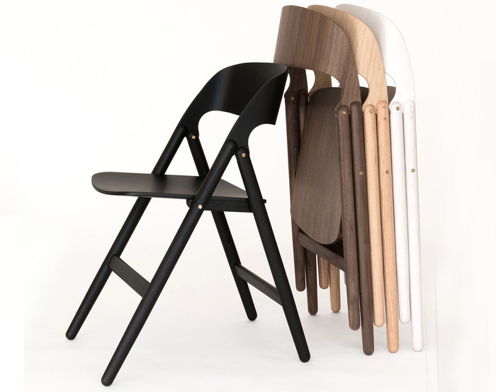 Narin Folding Chair, designed by David Irwin for Case Furniture