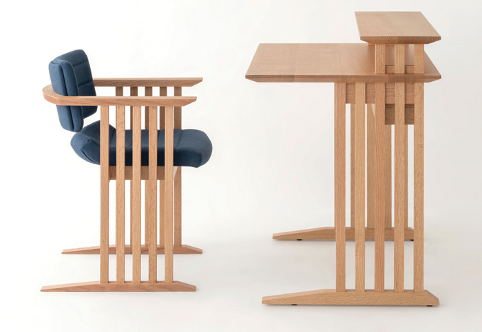Gifu Workstation, designed by Sebastian Conran for Hida Sangyo Co