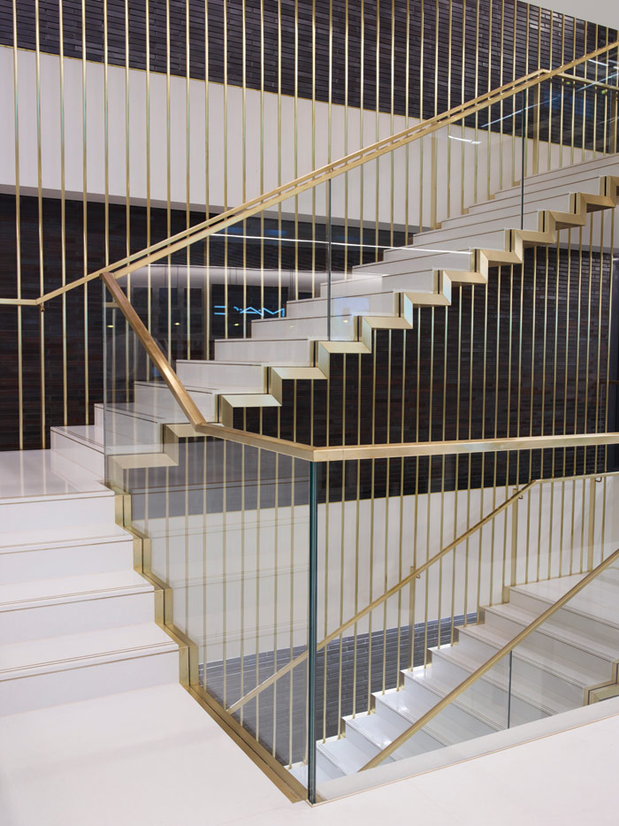 MCM designed this cantelevered staircase for the new building