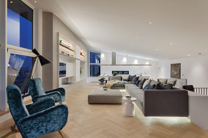 Thames view - This penthouse is arranged over two floors, with open-plan living spaces with a natural flow between them