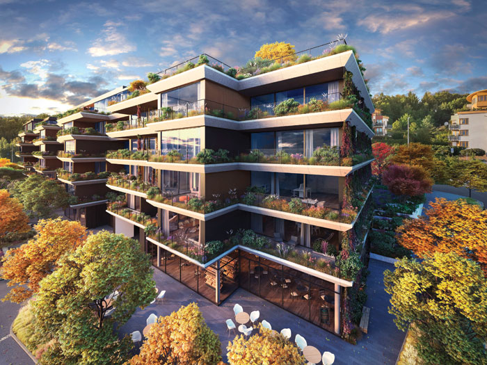 Hilltop – the project combines apartments, roof-top villas and extensive landscaping