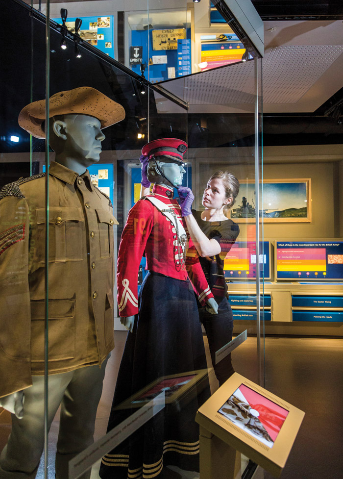 Uniforms in the Army Gallery reflect the various fields of engagement from across the years