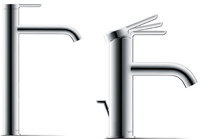 Kurt Merki designed the C1 product range of taps for Duravit, which can be seen in Duravit's flagship showroom in Clerkenwell