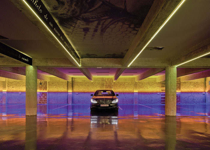 Named as Light Art Project of the Year, First Sunset in the Pacific transforms a Madrid car park