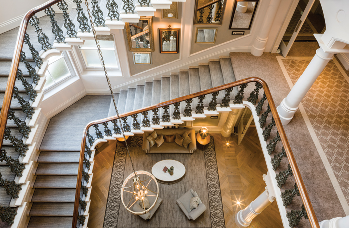 Principal York – looking down the stairs into the Lobby Lounge. Image Credit: Gareth Gardner
