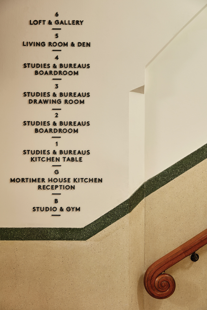 Mortimer House's facilities are listed in the entrance lobby. Image credit: Ed Reeve