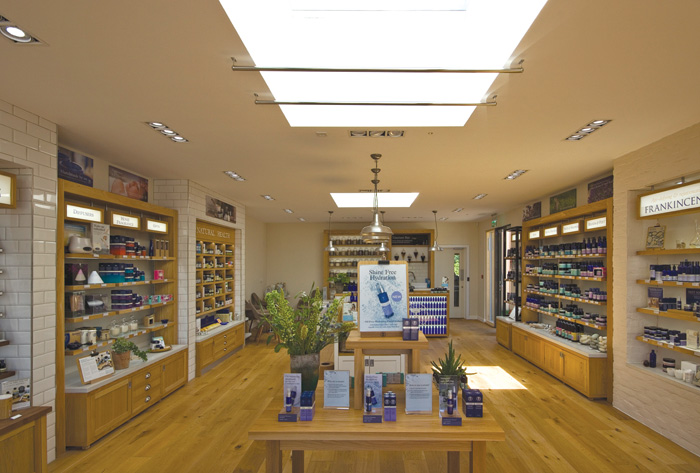 Inside the new shop at the newly extended Peacemarch site. Photo Credit: Neal's Yard Remedies
