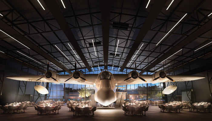 Raf Museum, London: Nex is the lead designer for a masterplan and two large buildings at the Royal Air Force Museum. The museum is being transformed for the RAF centenary this year and will feature 5,000 sq m of gallery, restaurant and retail space. The project is under construction scheduled to complete in spring.