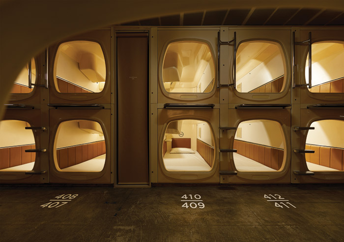 Banks of capsules offer a night's sleep