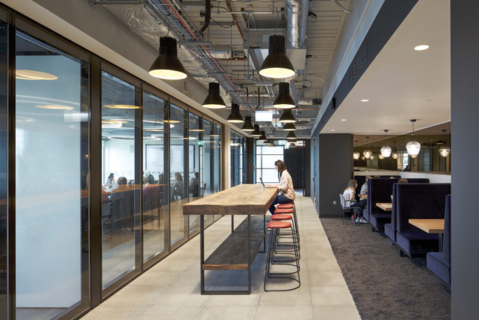 The design by MVR provides numerous places for individual contemplative work and team discussions