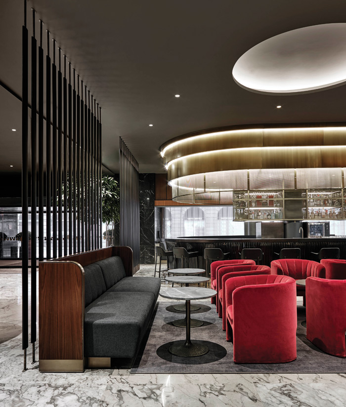 Space Copenhagen's semi-circular Loafer chair was designed especially for the hotel project