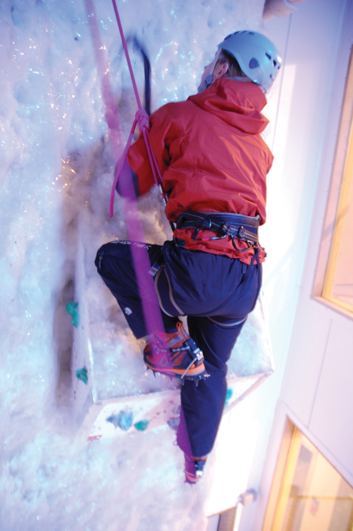 The Ellis Brigham Mountain Sports store in Covent Garden incorporates the Vertical Chill ice wall, where customers can try out clothing and equipment in authentic conditions