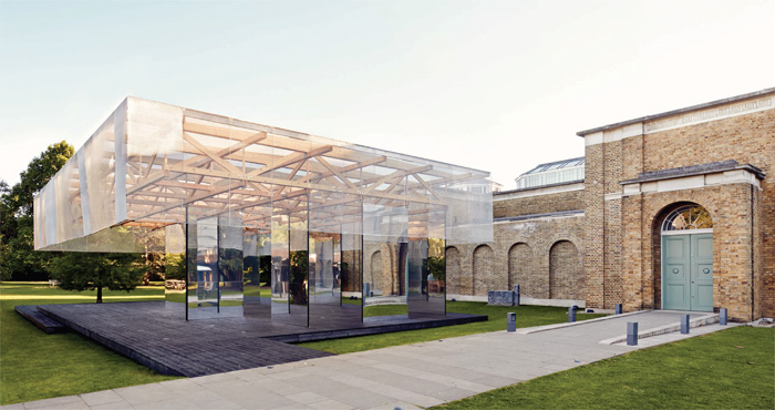 The Dulwich Village Picture Gallery's Pavilion, a structure opening this summer to house temporary events at the venue. It is designed by IF_DO