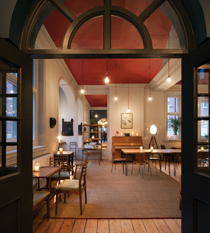 The Bush Theatre in Shepherd's Bush is a £4.3m reworking of a former public library by Haworth Tompkins, with the aim of attracting people other than theatre-goers with its informal, almost domestic qualities of the building