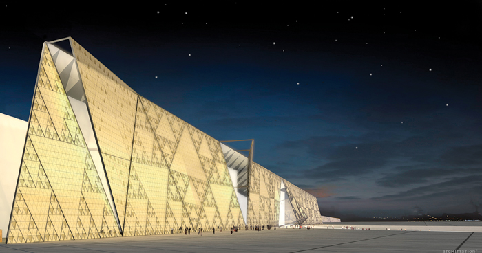 Winning the competition to design the $1bn Grand Museum of Egypt was Heneghan Peng