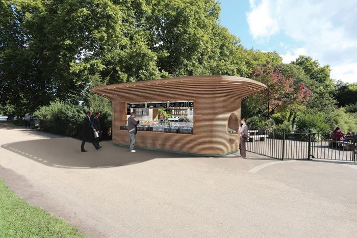 Mizzi Studio kiosks will mark entrance to Royal Parks