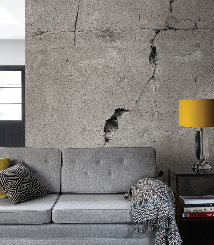 Surface View Cracked Concrete wall mural by Jon Osborne Photography is made to measure.