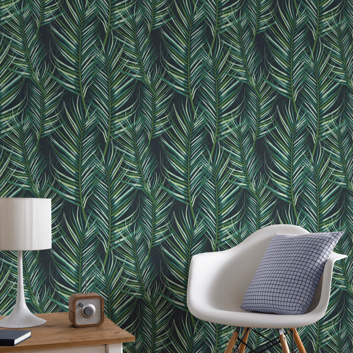 Graham & Brown's Palm Leaf wallpaper is a budget way of enjoying the jungle trend.