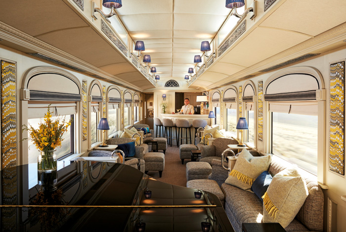 One of the train carriages has been converted into a piano bar