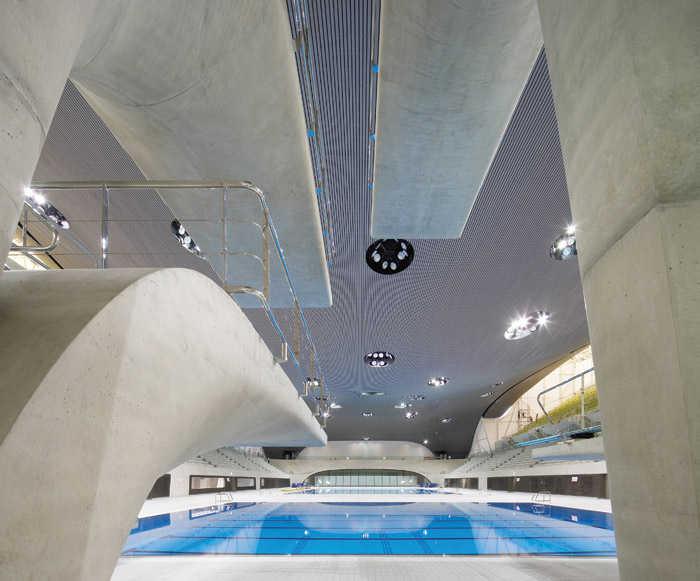 Inside Zaha Hadid's Aquatics Centre for the London Olympics