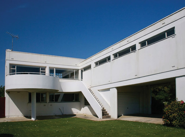 Sea Lane House at East Preston in West Sussex, designed by Marcel Breuer in collaboration with FRS Yorke and completed in 1936.