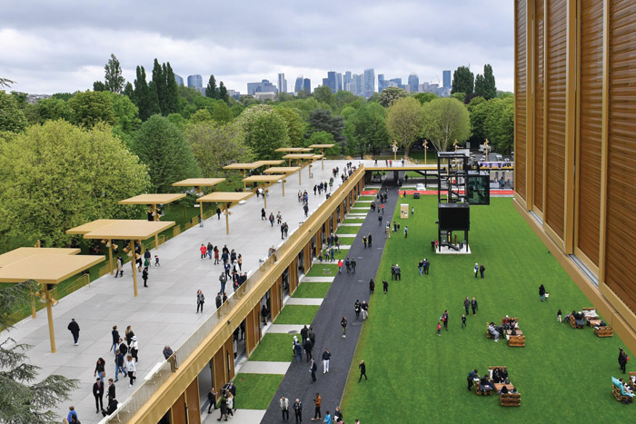 Views of ParisLongchamp, after its major revamp in 2018, undertaken by architect Dominique Perrault