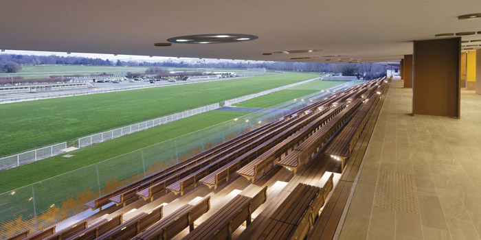 Views of ParisLongchamp, after its major revamp in 2018, undertaken by architect Dominique Perrault. Image Credit: Vincent Fillon