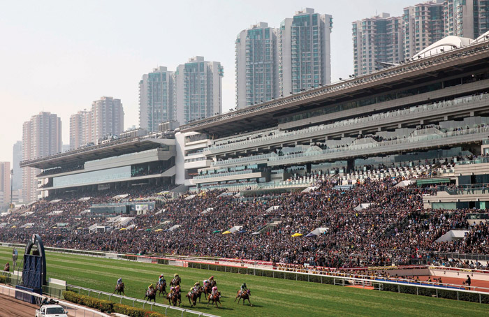 The Sha Tin Racecourse, Hong Kong. Image Credit: Isaac Lawrence AFP Getty