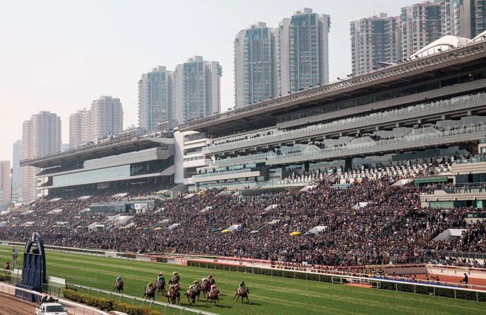 The Sha Tin Racecourse, Hong Kong. Image Credit: Isaac Lawrence AFP Getty